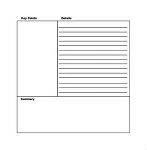 Docs Cornell Notes Template by Doc 585680 Cornell Note Taking Template Cornell Notes