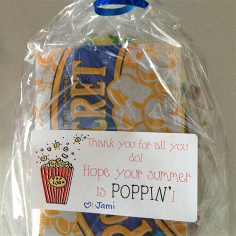 popcorn gift ideas for popcorn and arare thank you gift crafts