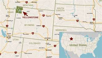 us map yellowstone where is yellowstone national park