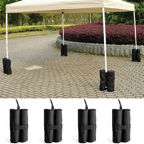 gazebo weights 4 x gazebo foot leg pole sandbag anchor weights marquee