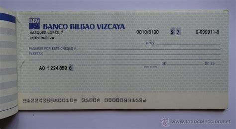 banco bilbao vizcaya argentaria talonario de cheques bbva 1987 88 banco bilbao comprar