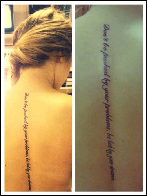 tattoo lettering down spine spines quotes quotesgram