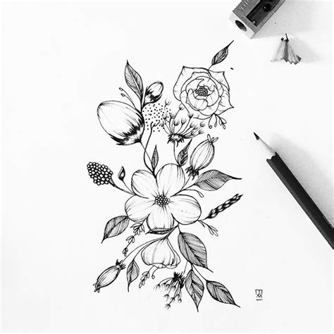 Sketches Flowers by 25 Best Ideas About Flower Sketches On Flower