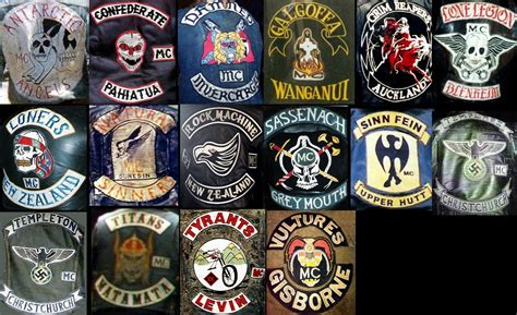mc colors more nz clubs biker colors motorcycle clubs