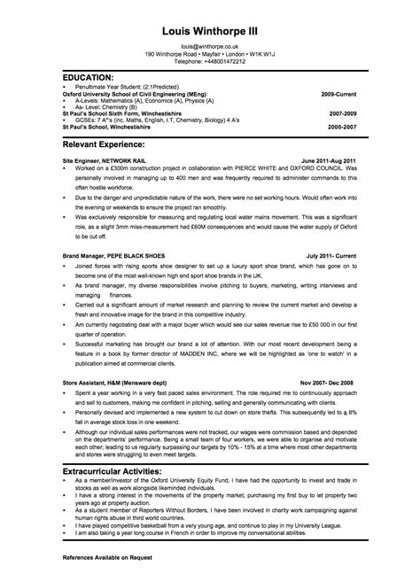 investment bank resume template free resume templates