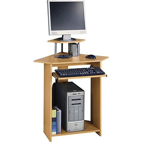 Small Workstation Desk Small Corner Desk With Hutch Beech Effect At Homebase Be Inspired And Make Your House A