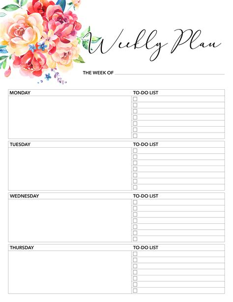 printable weekly planner 2018 free printable 2018 planner 50 plus printable pages the