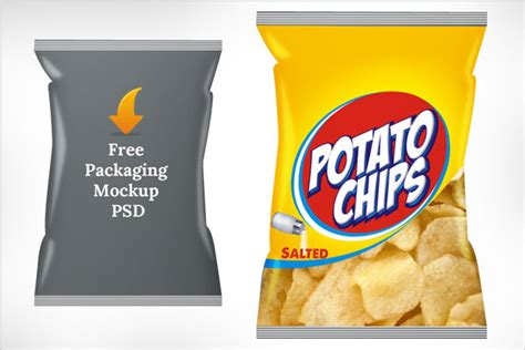 chip template free potato chips packaging mock up psd template