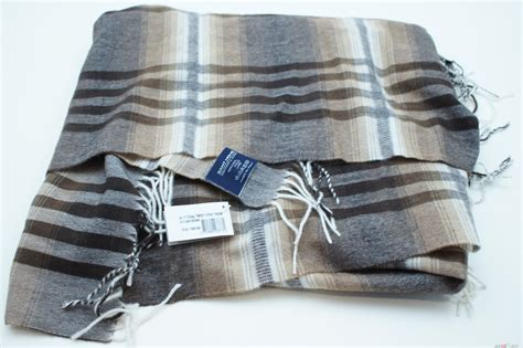 Gant Blanket Blanket Check 100 Wool Made In Italy