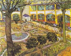 Yellow Vase Cafe The Asylum Garden At Arles 1889 By Vincent Van Gogh