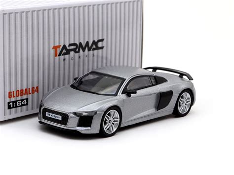 tarmac works global64 1 64 audi r8 v10 plus matt silver