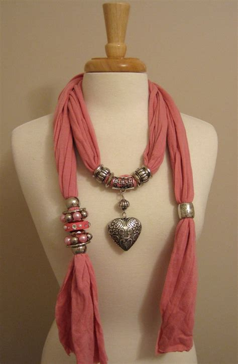 how to make jewelry scarves 17 best ideas about scarf necklace on t shirt