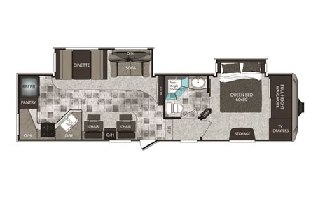 cougar 5th wheel floor plans keystone cougar high country fifth wheeland travel trailer