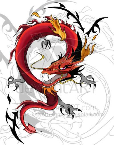 red dragon tattoo designs tribal and design