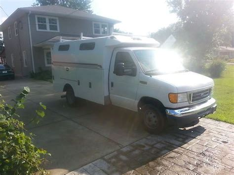 find  ford  dually diesel utility cargo van kuv stahl bed  louisville kentucky