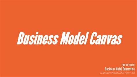 Business Model Canvas Yves Pigneur