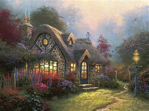 kinkade cottage paintings kinkade paintings cottage www pixshark