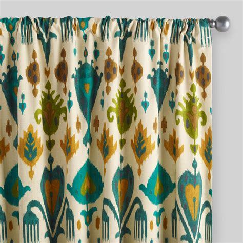 Mesmerizing ikat curtains ikat curtains coral etsy canada yellow pier one orange target window