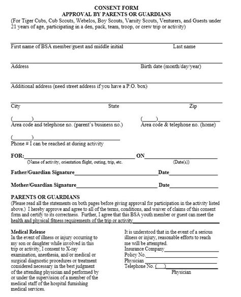 travel consent form template 10 free sle travel consent form printable sles