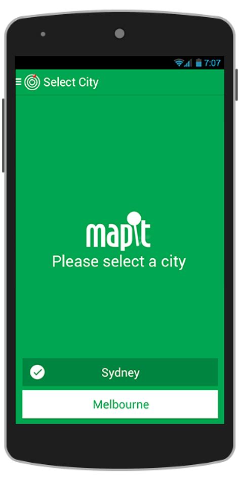 templates for apps buy mapit android app template navigation chupamobile