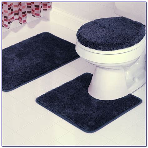 Navy Blue And White Bathroom Rugs Rugs Home Design Blue And White Bathroom Rugs