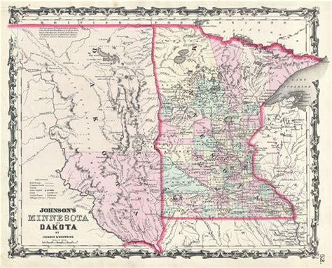 dakota on us map johnson s minnesota and dakota geographicus antique
