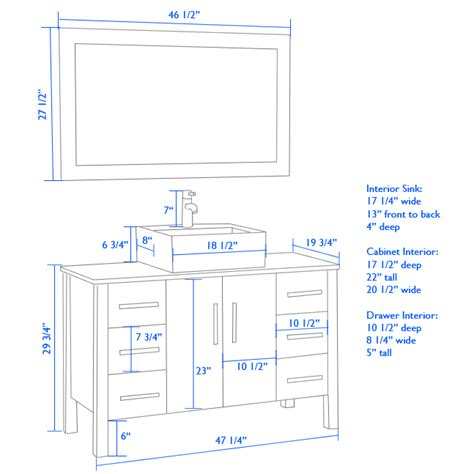 standard mirror sizes for bathrooms superb vanity cabinet height 2 standard height bathroom