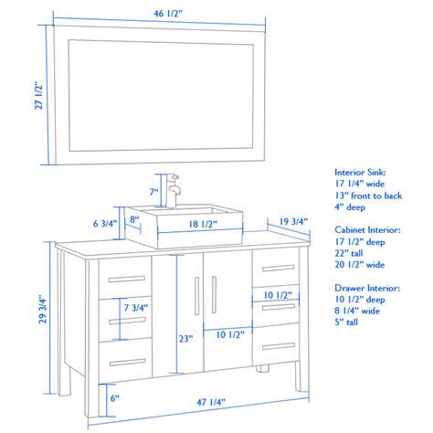 Standard Bathroom Vanity Height Attractive Property