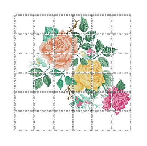 schemi punto croce per cuscini schemi punto croce cuscino tre rose libri schemi e