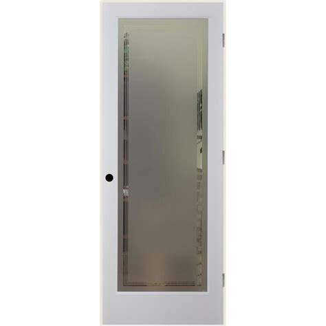 pantry door lowes prehung doors frosted glass glass