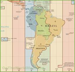 time zone map south america south america time zone map