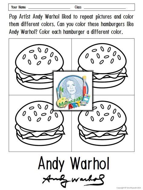 free andy warhol coloring sheets coloring pinterest