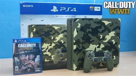 Kaset Ps4 Call Of Duty Wwii call of duty wwii ps4 limited edition bundle unboxing