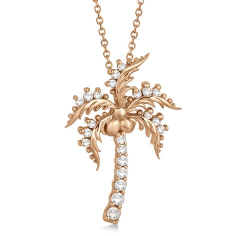 Tree Friendly Pendant Necklace by Palm Tree Pendant Necklace 14k Gold 0 37ct