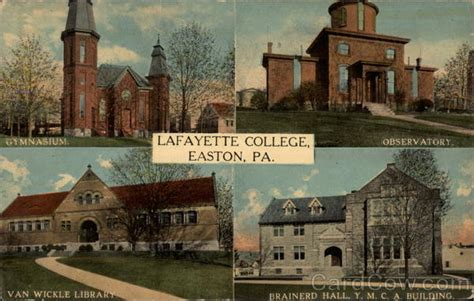 Lafayette College Post Office by Lafayette College Easton Pa
