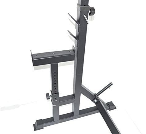 bench safety stands squat rack w bench safety stands h d adjustable power