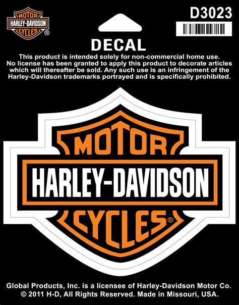 Sticker Harley Longhorn 12 Cm decal bar shield medium at thunderbike shop