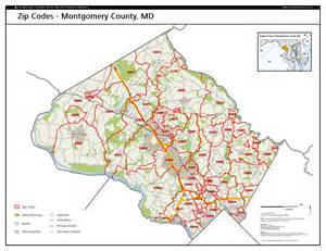 map montgomery county montgomery county zip code map images