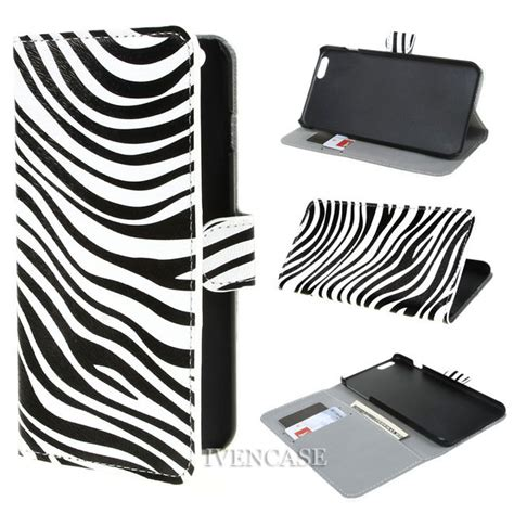 Limited Iphone 7 Zebra Pattern Hardcase Casing Cover zebra print design wallet leather bag stand flip cover for apple iphone 6 plus 5 5 inch
