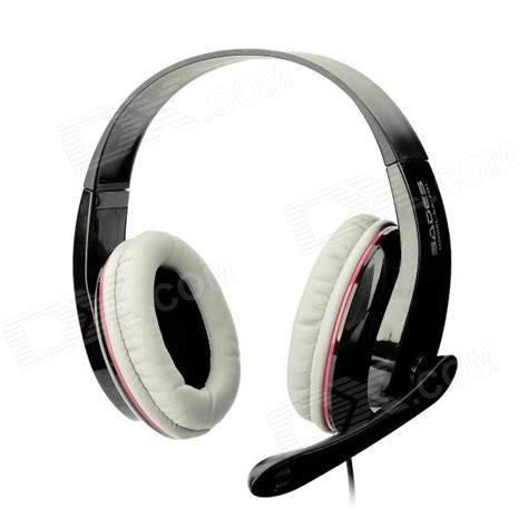 Headset Sades Sa 701 sades sa 701 headphones w microphone volume for pc black 3 5mm 200cm cable