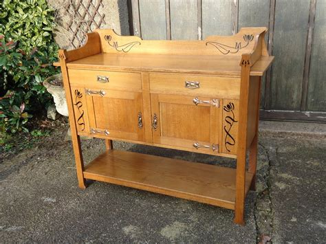arts crafts oak dresser with inlay antiques atlas