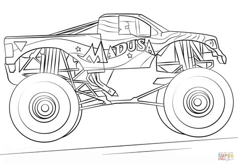 madusa monster jam coloring pages coloring pages