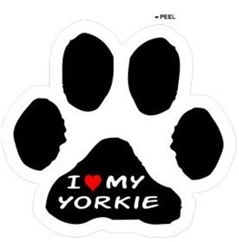 yorkie paw print i my terrier on paw print yorkie window bumper locker