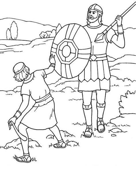 coloring page for david and goliath david and goliath coloring pages printable google search