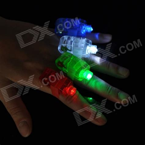 Laser Finger Light 4 X Led magic colorful led finger ring laser light 3 ag3 4pcs free shipping dealextreme