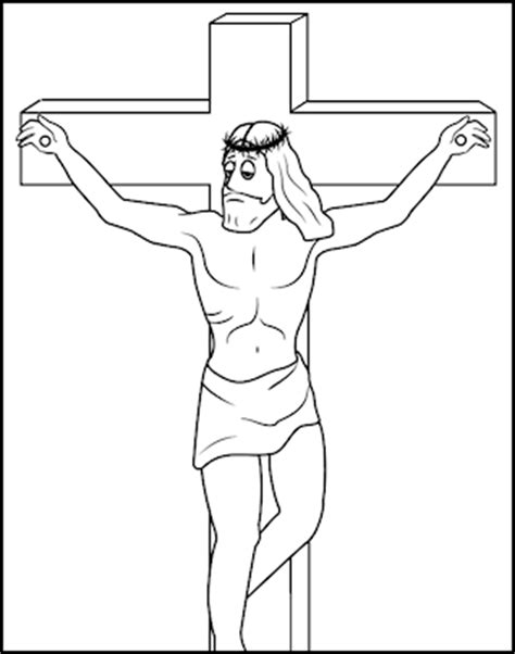 Color This Picture Of Jesus Carrying Cross Coloring Page Jesus On The Cross Coloring Page