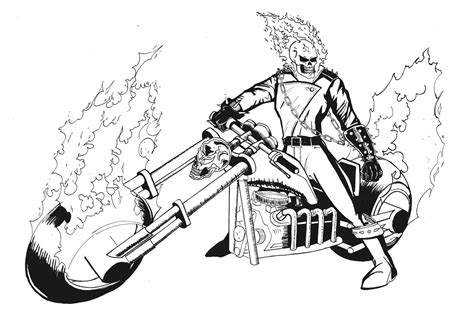 ghost rider coloring pages to download and print for free