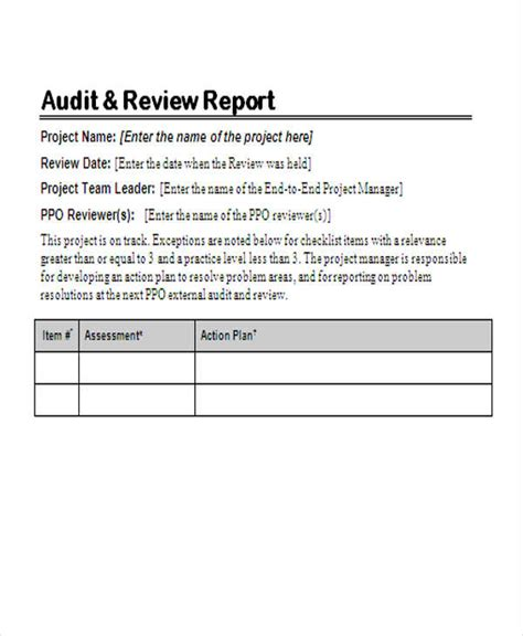 Sle Audit Report Template Sle Audit Report Template 28 Images Audit Report