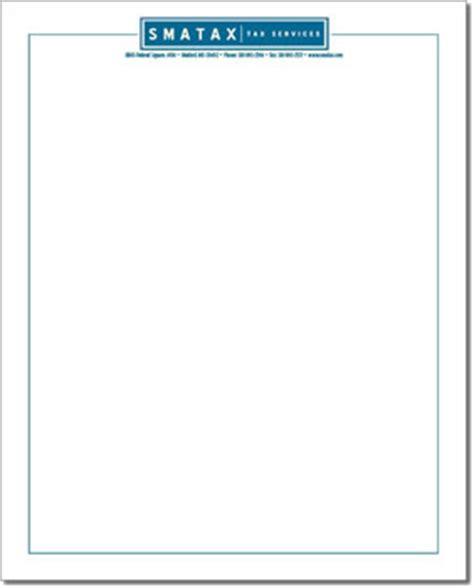 custom letterhead template simply assisted designs letterhead sle smatax tax service
