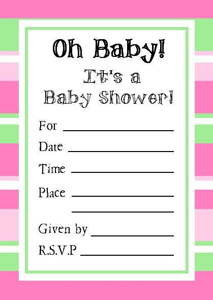 printable baby shower invitations free